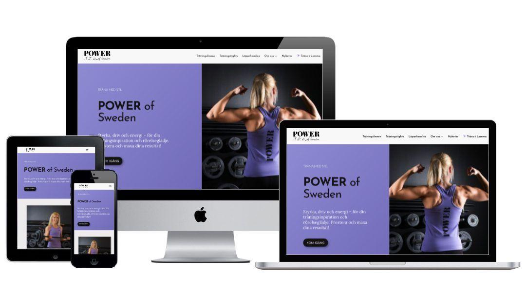 Duse Media bygger ny sajt till POWER of Sweden