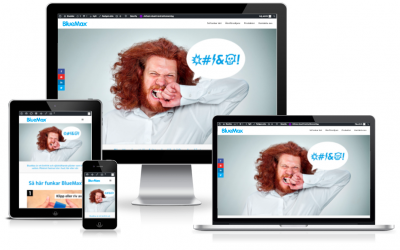 Duse Media skapar hemsida till BlueMax superplåster