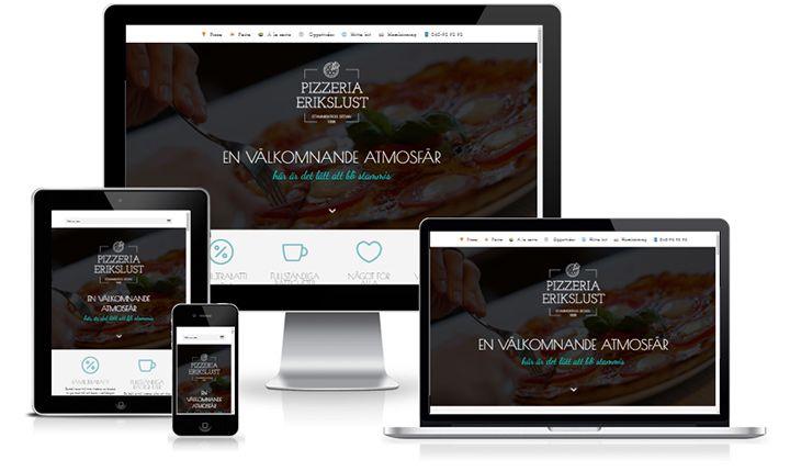 Hemsida till pizzeria gjord i WordPress